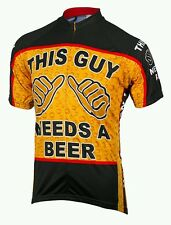 Brand New In Packet This Guy Needs A Beer Cool Max Cycle Jersey Size Extra Large