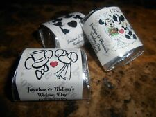 GLOSSY MICKEY & MINNIE MOUSE PERSONALIZED HERSHEY NUGGET WRAPPERS WEDDING FAVORS
