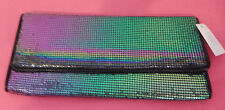 Metallic Mesh Clutch Bags - 3 Style Available - BNWT - Peacock Green, Union Jack