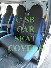 TO FIT A MERCEDES VITO VAN, 2014, SEAT COVERS, ANTHRACITE + NEON BLUE TRIM