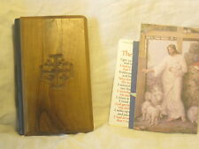 vintage New Testament Lord King James ABS small bible Olive wood Jerusalem cover