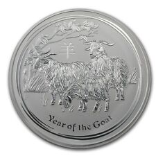 2015 Australia 1 kilo Silver Year of the Goat BU - SKU #84365