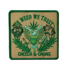 "Cheech & Chong ""In Weed We Trust"" Iron-On Patch Pro-Marijuana Apparel Applique"