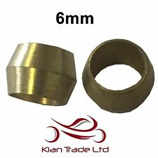 6mm - 10PCS BRASS COMPRESSION OLIVES PLUMBING FITTINGS ADAPTER