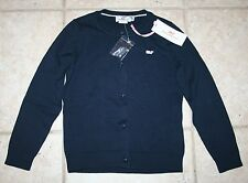 NWT Vineyard Vines Girls Small 6/7 Cotton Navy Blue Solid Cardigan Sweater