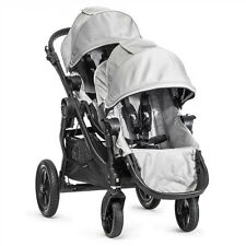 Baby Jogger 2015 City Select Double Stroller - Silver on Black Frame Open Box!