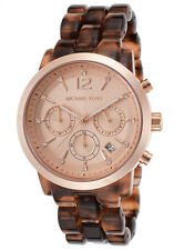 BRAND NEW MICHAEL KORS MK6199 AUDRINA ROSE GOLD GLITZ & TORTOISE WOMEN'S WATCH