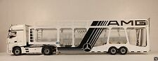 MNtrailers Unique  AMG OPEN Car Transporter Trailer 1:18 for ACTROS ELIGOR NZG