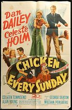 CHICKEN EVERY SUNDAY Celeste Holm Dan Dailey 1948 ORIG 1-SHEET Movie Poster