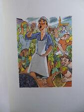 P Scize Aux vendanges de Bourgogne Illustré Pavil humour vin vigne oenologie