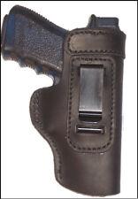 """S&W M&P 9, 40, 45 Full Size 4.5"""" Leather Gun Holster LT RH IWB Black"""