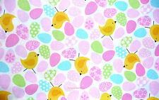 Glitter Easter Egg Chicks  Cotton Fabric Glitter Patty Reed  BFab