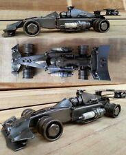 FORMULA 1 auto da corsa scultura in metallo di scarto. f1, Car Parts IN ACCIAIO MODELLO. 28cm
