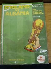 26/04/1989 England v Albania [At Wembley] .  We are pleased to be able to offer