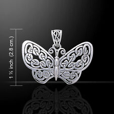 Butterfly .925 Sterling Silver Pendant by Peter Stone