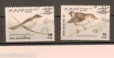 1990//2x TIMBRES OBLITERES//NEW.ZEALAND//OISEAUX//SAHARA OCCIDENTALE