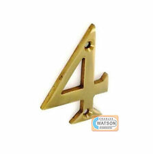 """2""""/51mm Numeral House Door Number 4 Brass FOUR"""