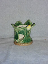 Fitz & Floyd Yellow Flower Rose Bud Ceramic Candle Votive