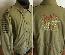 Polo Ralph Lauren Jacket Vintage Bomber Military Style Key West Embroidered XL