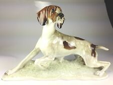 "VINTAGE & RARE LARGE Hutschenreuther Porcelain ""POINTER BIRD DOG""  FRITZ DILLER"