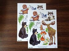 2 Suzy's Zoo sticker sheets Woodland animals