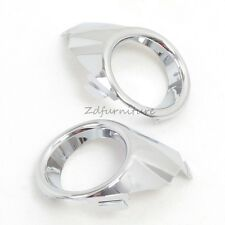 For Ford Fiesta 2009-2012 ABS Silver Chrome Front Fog Light Lamp Ring Cover Trim