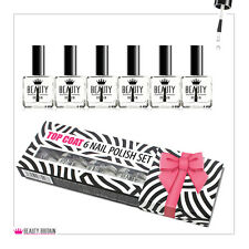 6 x TOP COAT BIG NAIL VARNISH POLISH CLEAR NAIL VARNISH WITH BOX FROM UK