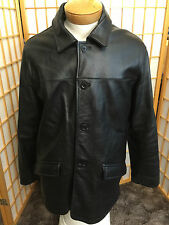 Reaction Kenneth Cole Black Leather Riding Motorcycle Jacket Coat Mens Size L