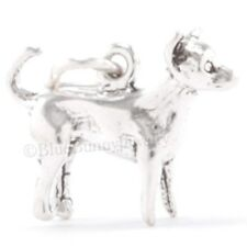 3D CHIHUAHUA 925 Puppy Dog Charm Pendant Solid .925 STERLING SILVER cute!