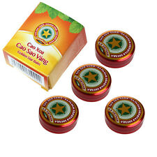 10* 4g Golden Star Balm Ointment for Headache Dizziness Insect Stings Heat