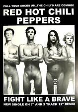 "RED HOT CHILI PEPPERS POSTER ""SOCKEN - FIGHT LIKE A BRAVE"""