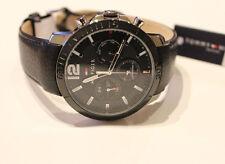 Tommy Hilfiger Armbanduhr Edelstahl Lederarmband 1791268 Multi