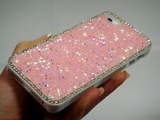 Pink Frame Swarovski Elements Crystal Rhinestone Case Cover Bling iPhone 7 Plus
