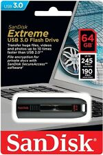 SanDisk 64GB EXTREME Cruzer USB 3.0 Fast Flash Memory Pen Drive SDCZ80-064G-G46