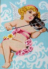 Ángel tocando el violín Tapiz Lona (30cm X 20,5 Cm) 15.287 BOBELINO L