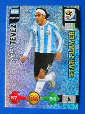 CARD ADRENALYN WORLD CUP SOUTH AFRICA 2010 - TEVEZ - ARGENTINA - STAR PLAYER