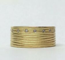 ROBERTO COIN DIAMOND 18K YELLOW GOLD 8.9MM WIDE RING