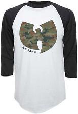 Wu-Tang Clan-Camo Logo X-Large Lightweight Raglan Baseball Jersey  T-shirt