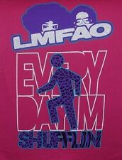 MEDIUM WOMEN'S PINK T-SHIRT ** LMFAO ** EVERY DAY IM SHUFFLIN ** BBABY DOLL TEE