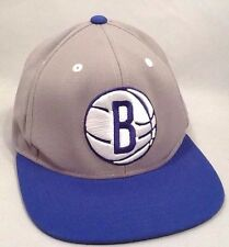 NBA Brooklyn Nets Mitchell & Ness Snapback Hat Two Tone Blue/Gray Embroidered