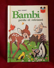 Bambi: Lost & Found French Disney Picture Book HC Childrens 1976 Perdu retrouve