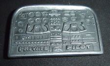 Private Pilot Airplane Control Panel Vintage Belt Buckle