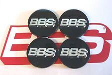 4 BBS BLACK 3-D LOGO 56mm CENTER CAPS 56.24.012 SUBARU & MITSUBISHI