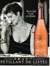 PUBLICITE ADVERTISING 094  1989  PETILLANT DE  LISTEL    peche poire