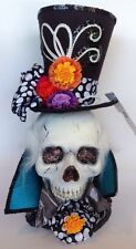 """Katherine's Collection 16"""" Halloween Fiber Optic Diego Skull Display Sold Out"""