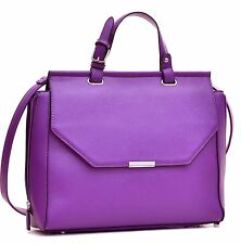 New Dasein Leather Handbag Zipper Briefcase Satchel Totes Shoulder Bag Purse