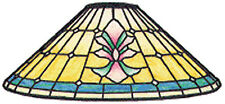 """Worden 16"""" Rococo Stained Glass Lamp Pattern C162"""