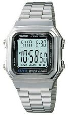 Casio Metal Digital Chronograph Watch, Alarm, Silvertone Band, A178WA-1AV