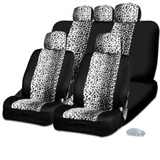 New Design Safari Snow Leopard Print Car Truck SUV Seat Covers For Nissan