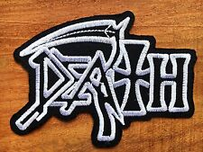 DEATH American Metal Band Sew Iron On Patch Embroidered Logo Heavy Rock Music